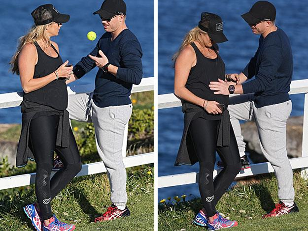 The couple looked very much in love as they went for a stroll along Sydney's beaches together.