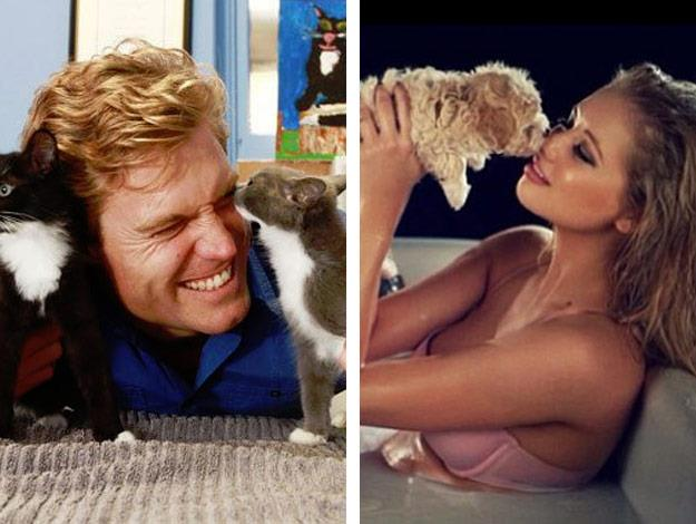 They both like to share their adorable animal snaps via social media.