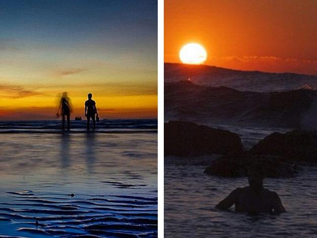 They both shared sunset snaps on Instagram a week ago.