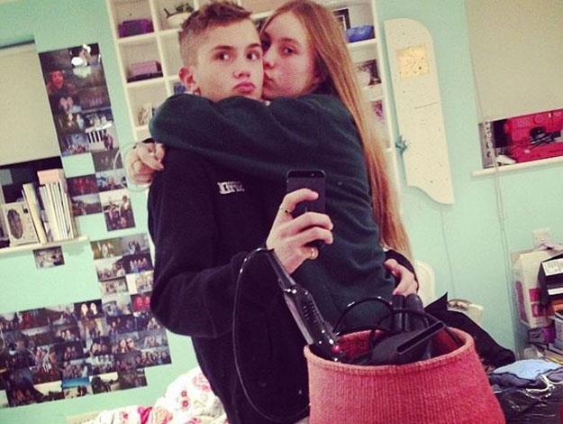 Rafferty Law and his girlfriend Ella Dallaglio are big fans of taking couple selfies.