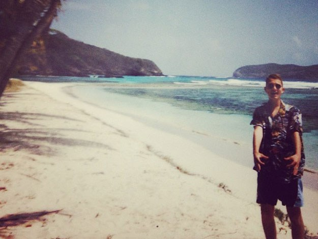 Another snap of Rafferty taken by his girlfriend Ella on the beach on the Mustique.