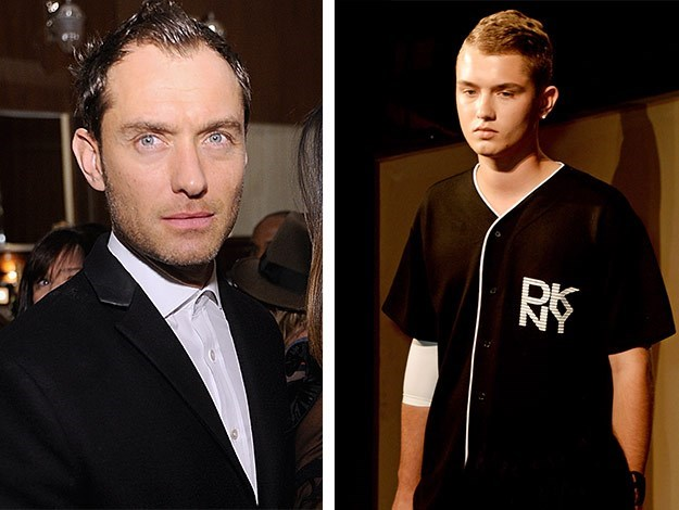 Jude Law attended his son Rafferty's catwalk debut as a model.