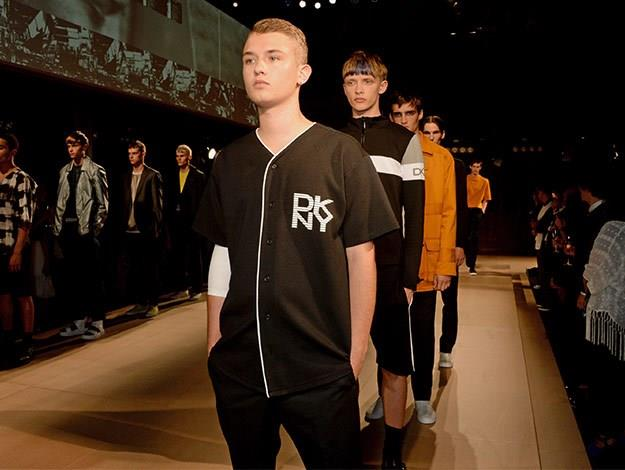 Rafferty Law making his runway debut as a model at a fashion show in London.