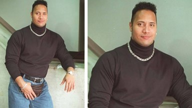 Dwayne 'The Rock' Johnson shares dorky 90s throwback