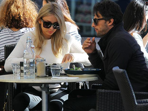After all that fun in the park, the pair take some time out for lunch at a local restaurant.
