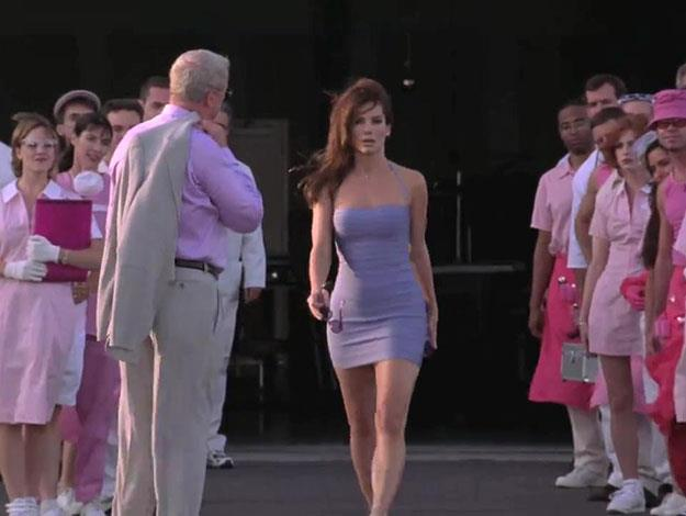 """**Ms Congeniality**:    """"I am in a dress, I have gel in my hair, I haven't slept all night, I'm starved, and I'm armed. Don't mess with me."""""""