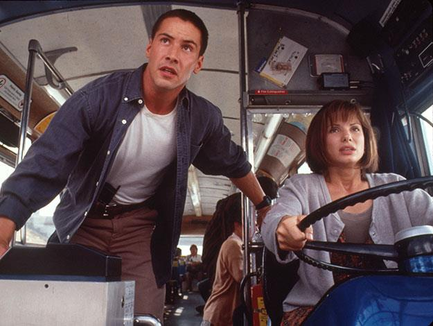 **Speed**:    Jack: Miss, can you handle this bus?  Annie: Oh sure. It's just like driving a really big Pinto.