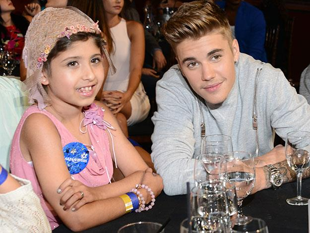 Justin Bieber granted the wish of 10-year-old cancer patient Grace Kesablak by taking her as his date to the Young Hollywood Awards.