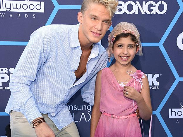 Grace was lucky enough to meet some of her other favourite stars at the awards too - like Aussie ten star Cody Simpson.