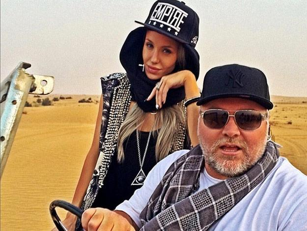 The radio shock jock and his model girlfriend have been dating for some time. This photo was taken on their recent trip to Dubai.
