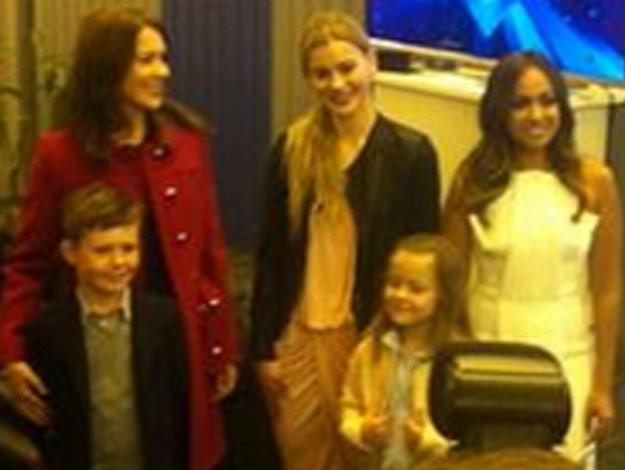 Jess met Princess Mary and her family backstage at the Eurovision Awards.