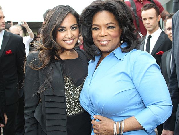 Jess met with Oprah when she brought her show downunder in 2010.