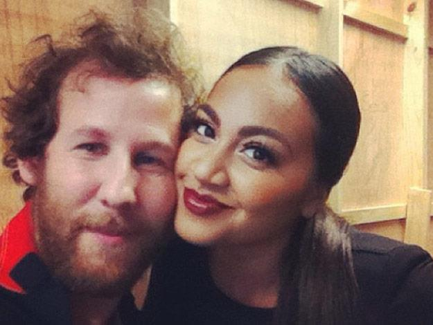 Jess strikes a pose with fellow Aussie musician Ben Lee when they acted as guest coaches on *The Voice* last year.