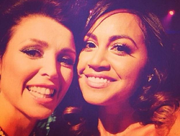 Jess and Dannii Minogue pose for a selfie.