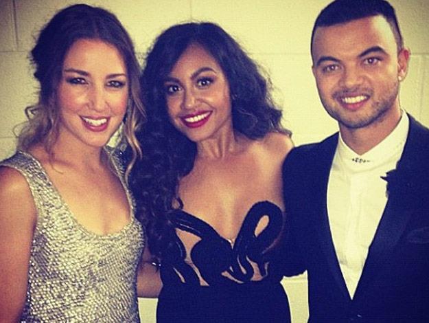 Jess with fellow Australian Idol alumni Guy Sebastian.