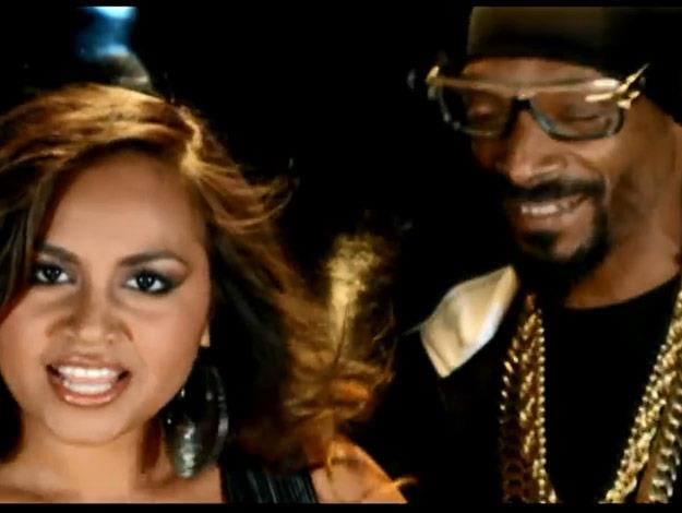 Jess with Snoop Dogg who featured on her track Get 'em Girls.