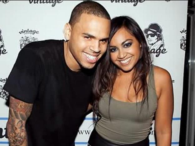 Jess with bad-boy Chris Brown.