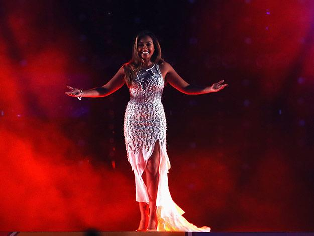 Jess Performed at the closing ceremony of the 20th Commonwealth Games in Glasgow the night before celebrating her 25th birthday.