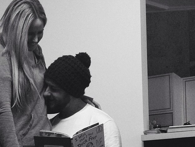 The Block's Dale and Sophie Vine have announced their having a baby in the cutest possible way.