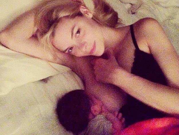 "Actress Jaime King shared this breastfeeding snap via instagram recently. She captioned it: ""JamesKnight is now 8 months old! These are the moments a mother lives for. Breastfeeding should not be taboo- and bottle feeding should not be judged- it's ALL fun for the whole family."""