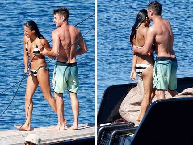 The pair spent a day together, soaking up the sun on board a friend's yacht.