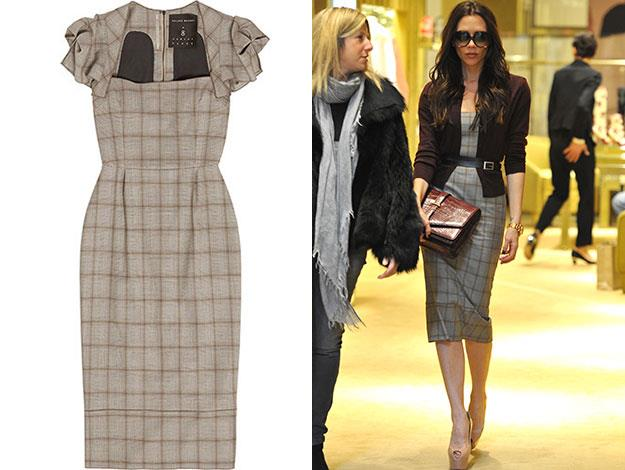 Another piece for sale is this tailored Roland Mouret dress that Victoria was snapped wearing in New York in 2012.