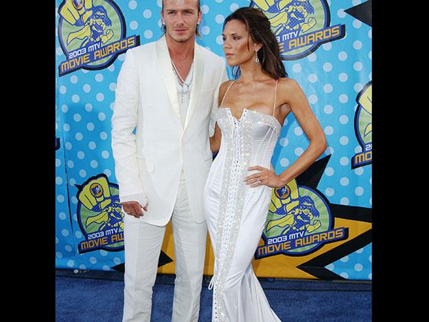 This epic glittery white Dolce & Gabbana gown that posh wore to the 2003 MTV Awards will also be up for grabs.