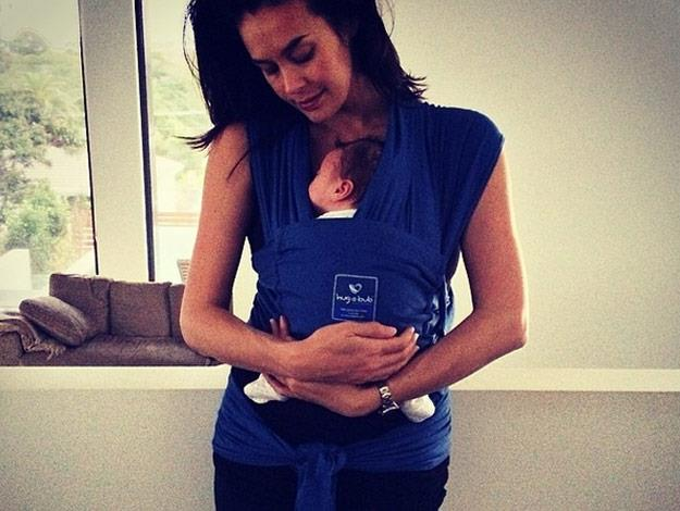 Megan is clearly wrapped up in love with her little man.