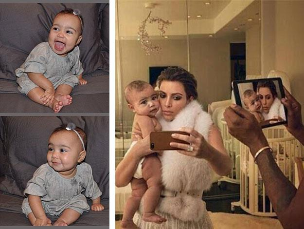 North is of course already an old pro at posing for the camera: she's used to being snapped by selfie-obsessed Mum Kim.