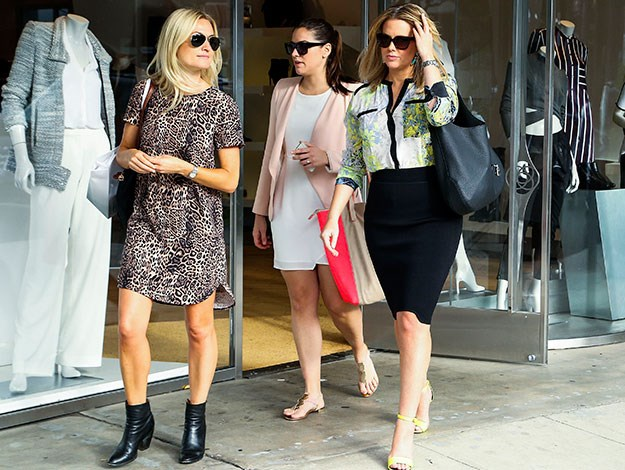 Samantha spent a girly day out shopping with pals.