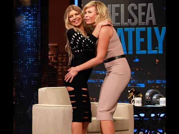 """Fergie recently appeared on US chat show Chelsea Lately where she revealed: """"My son likes to French kiss me a lot. It's so delicious! He goes in for the kill, but I'll have to cut that off at a certain age, or else that'll be weird."""""""
