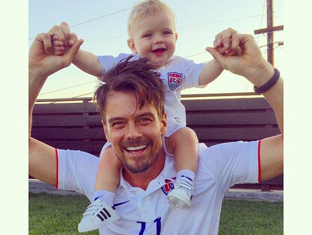 Father and son showing their support for team USA during the recent world up. [Click here to check out other celebs who got into the world cup spirit](http://www.womansday.com.au/celebrity/photo-galleries/2014/7/world-cup-final-celebrities-who-got-in-the-spirit/).