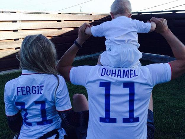 Fergie also posted this cute snap of the whole family in matching team USA T-shirts.