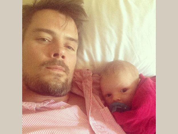 Dad Josh Duhamel and Baby Axl share an intimate moment together.