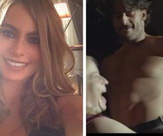 Joe Manganiello practices stripper moves on Sofia Vergara