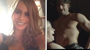 Joe Manganiello practices stripper moves on Sofia Vergara