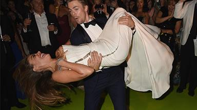 Sofia Vergara suffers nip slip at Emmy's after party