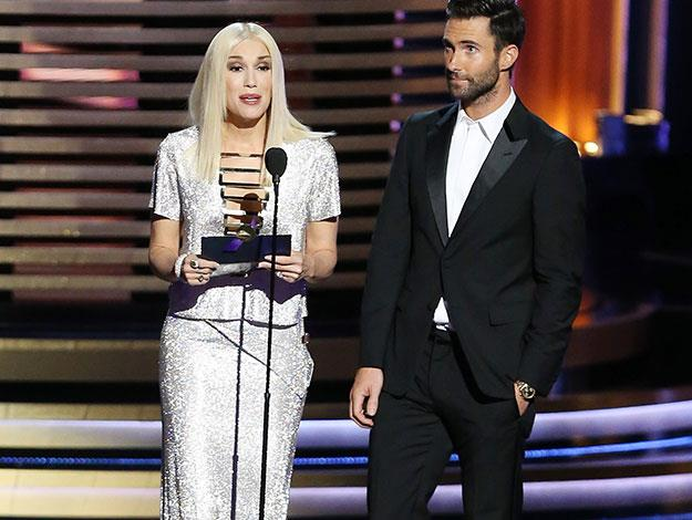 "Gwen Stefani had a bit of an 'Adele Dazeem' moment when she mispronounced the Colbert Report as ""the Colbort Report"" at the Emmys."