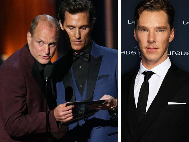 "Woody Harrelson and Matthew McConaughey botched Benedict Cumberbatch's name at the Emmys, calling him ""Benedict Cumberland"" instead."