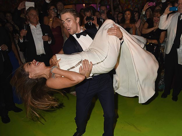 Sofia Vergara suffered a nip slip as she and Derek Hough danced up a storm at the Emmy's after party.