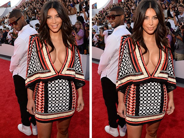 Usher was caught checking out Kim Kardashian's butt on the red carpet. He's definitely not the first guy to be caught doing that!