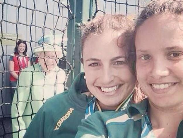 The Queen also recently photobombed a selfie, not once, but twice, while touring the games.