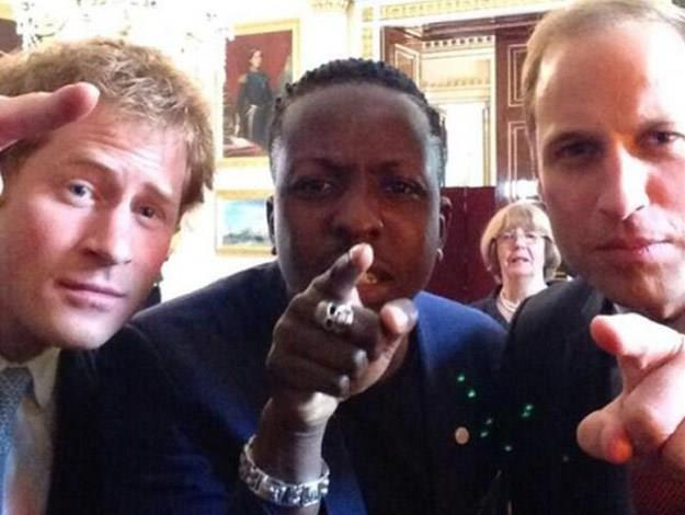 While the Queen mightn't like them, [Prince William and Prince Harry have gotten in on the selfie trend, snapping this one alongside entrepreneur Jamal Edwards at the Young Leaders Program earlier this year.](http://www.womansday.com.au/celebrity/photo-galleries/2014/7/prince-william-prince-harry-pose-for-royal-selfie/)