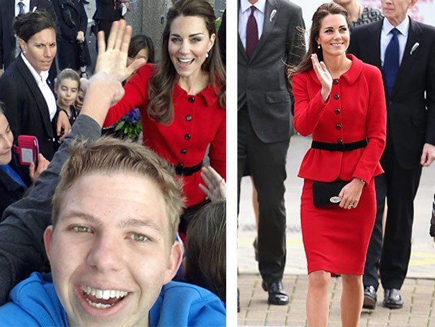 Duchess Catherine was snapped in this selfie during her trip to New Zealand.