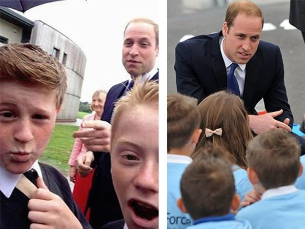 These cheeky schoolboys [snapped this selfie with Prince William](http://www.womansday.com.au/celebrity/photo-galleries/2014/6/prince-william-takes-selfie-with-schoolboys/).