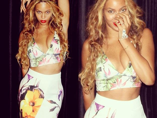 Beyonce looking fab in florals.