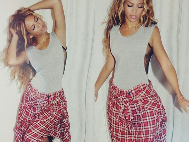 Even in flannel, Beyonce still manages to exude cool...