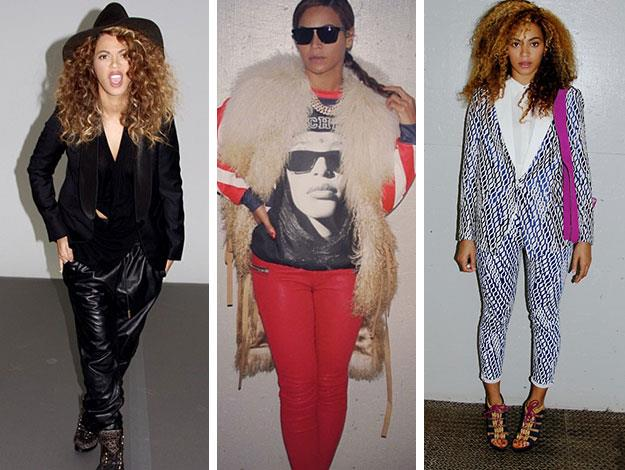 She doesn't just do high-end glamour well, Beyonce also knows how to rock the androgynous look.