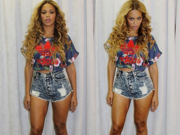 We wished we looked as good in a cropped top and hotpants as Beyonce does!