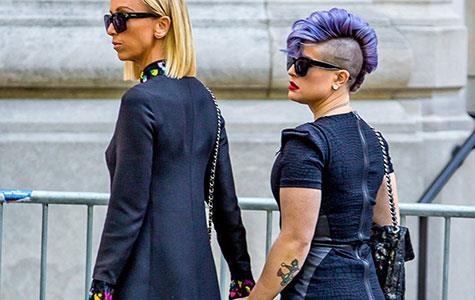 Giuliana Rancic and Kelly Osbourne at Joan Rivers funeral